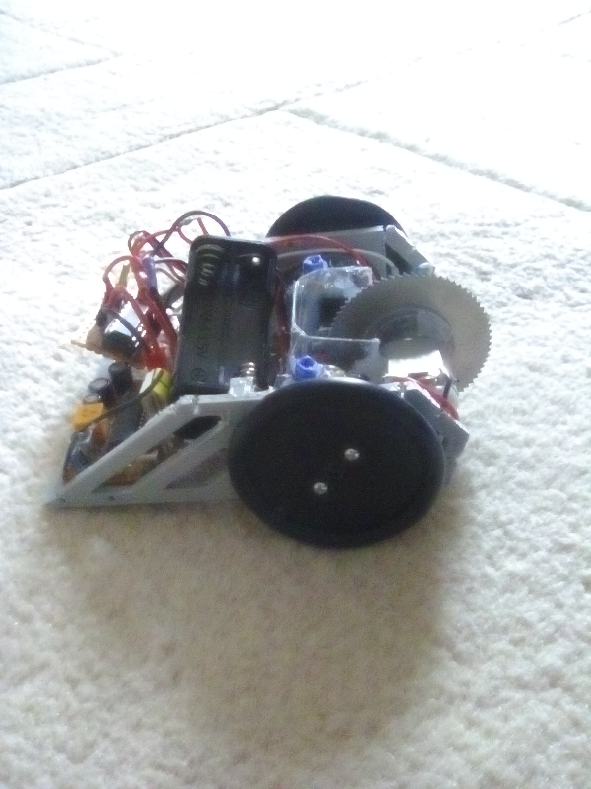 ant weight robot with spinning disk weapon